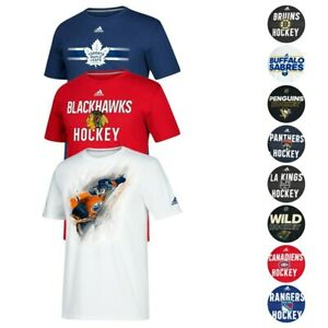 NHL-Adidas-Men-039-s-Team-Logo-Climalite-Performance-T-Shirt-Collection