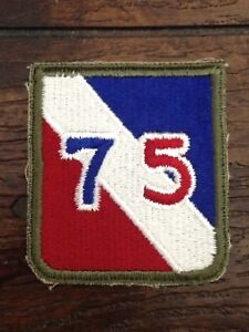 US-Military-WWII-75th-Infantry-Division-Exercise-Military-Patch-Vintage-Patches