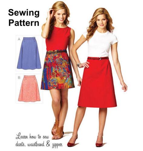 Kwik Sew K3877 patrón extraña faldas XS-XL BN
