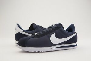 new style f2c66 47f88 Details about 819720-411 Nike Men Cortez Basic Nylon Navy Obsidian White  Silver