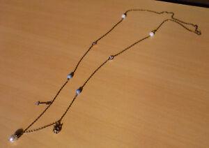 Lange-bronskleurige-ketting-met-parels-en-hangers-NIEUW