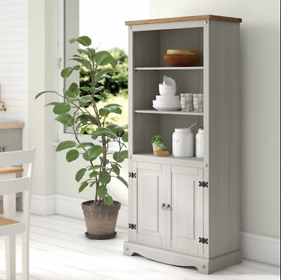 Tall Kitchen Pantry Rustic Grey, Tall Kitchen Pantry Cabinet Furniture