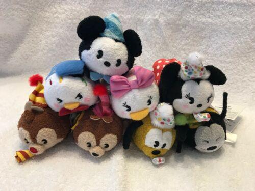 Mickey+Minnie+Donald+MORE NWT Disney Mickey/'s 90th Birthday Set of 8 Tsum Tsums