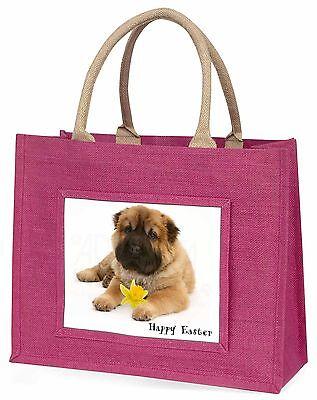 'Frohe Ostern' Shar-Pei Hund Große Rosa Einkaufstasche Weihnachten Geschenk,