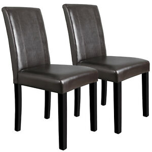 formal dining room sets with leather chairs | Dining Parson Room Chairs Kitchen Formal Elegant Leather ...