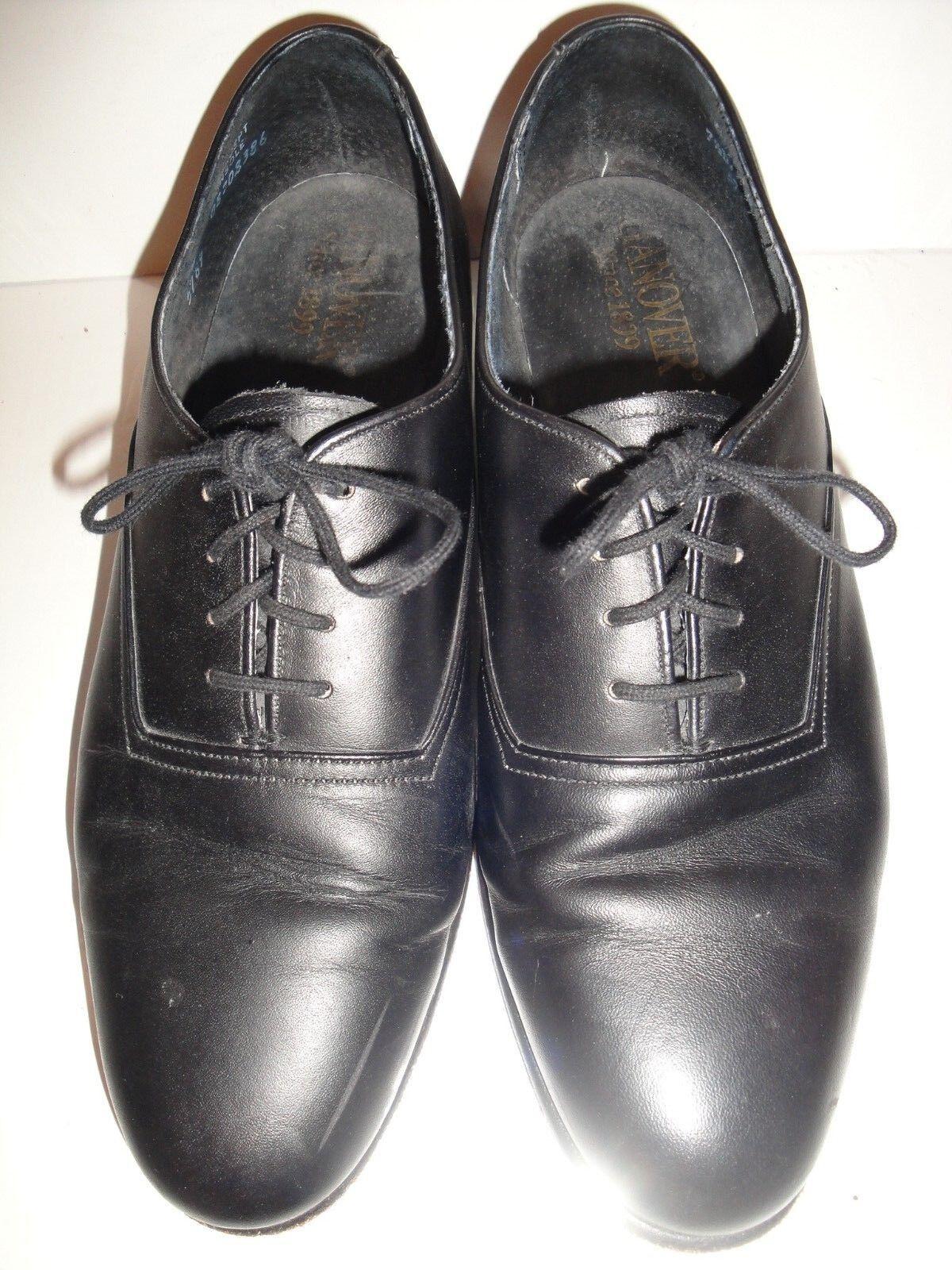 Hanover Vintage Black Leather Oxfords Men's shoes Size 7.5D B