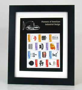 Pioneers-of-American-Industrial-Design-Stamps-Matted-and-Framed