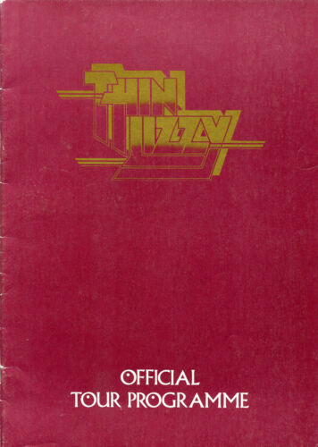 Original 1976 Thin Lizzy UK Concert Program Johnny The Fox Tour Book