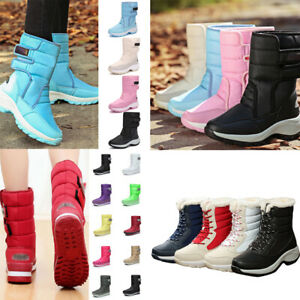 Womens-Snow-Ankle-Boots-Ladies-Waterproof-Winter-Warm-Fur-Lined-Shoes-Size-UK
