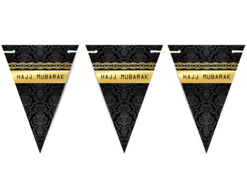 Hajj Moubarak 2019 Bunting Islamique Musulman Fête Bannière Drapeaux Décoration D1