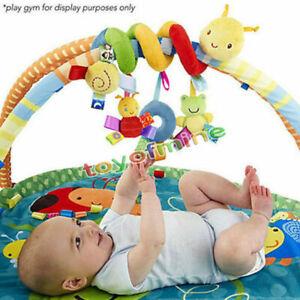 Spirale-Attivita-Passeggino-Seggiolino-Auto-Viaggio-TORNIO-giocattoli-sospesi-Bambino-Sonagli