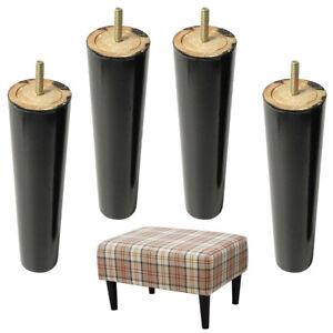 Image Is Loading Sofa Legs 4pcs Wood Funiture Cabinet