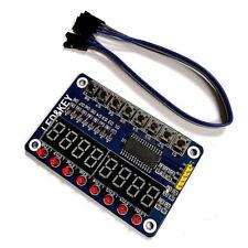 Tm1638 Module Tm1637 4 Key Display For Avr Arduino Max7219 Digital Led Tuberaa
