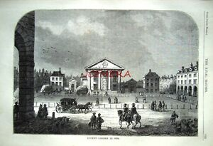 Antique-Old-London-Engraved-Print-c1878-039-Covent-Garden-in-1660-039