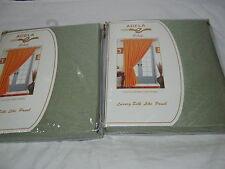 New Estex Adela  SILK LIKE DRAPE WINDOW PANELS 2(60x90) - LiTe GREEN NIP