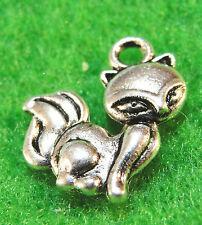 50Pcs. WHOLESALE Tibetan Silver Cute SKUNK Charms Pendants Earring Drops Q0204
