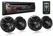 PACKAGE PIONEER DEH-150MP Car Stereo CD Receiver + 2 PAIRS JVC CS-J620 Speakers