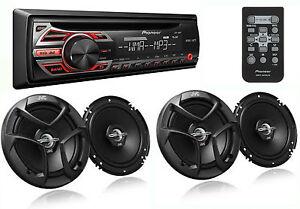Package Pioneer Deh 150mp Car Stereo Cd Receiver 2 Pairs Jvc Cs