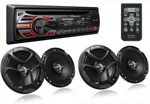 2 PAIRS JVC CS-J620 Speakers PACKAGE PIONEER DEH-150MP Car Stereo CD Receiver