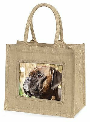 Gestromte Boxer Hund Große Natürliche Jute-einkaufstasche Weihnachten,AD-B23BLN