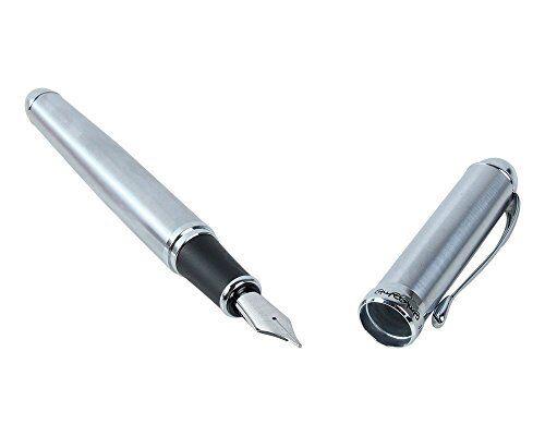 Jinhao X750 Full Silvery Mat Fountain Pen Advanced Broad 18kgp Best Metal Pen