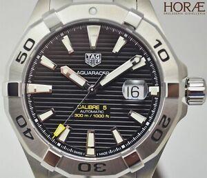 e0cac411613 Tag Heuer Men s Aquaracer 300M calibre 5 43mm WAY2010.BA0927 black ...