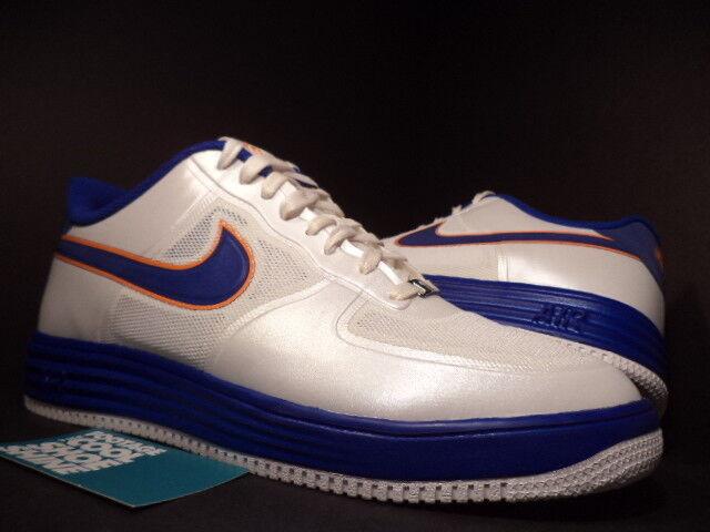 Nike LUNAR AIR Obliger 1 FUSE NRG MEDICOM blanc Bleu ORANGE GOLD 573980-104 DS 9.5