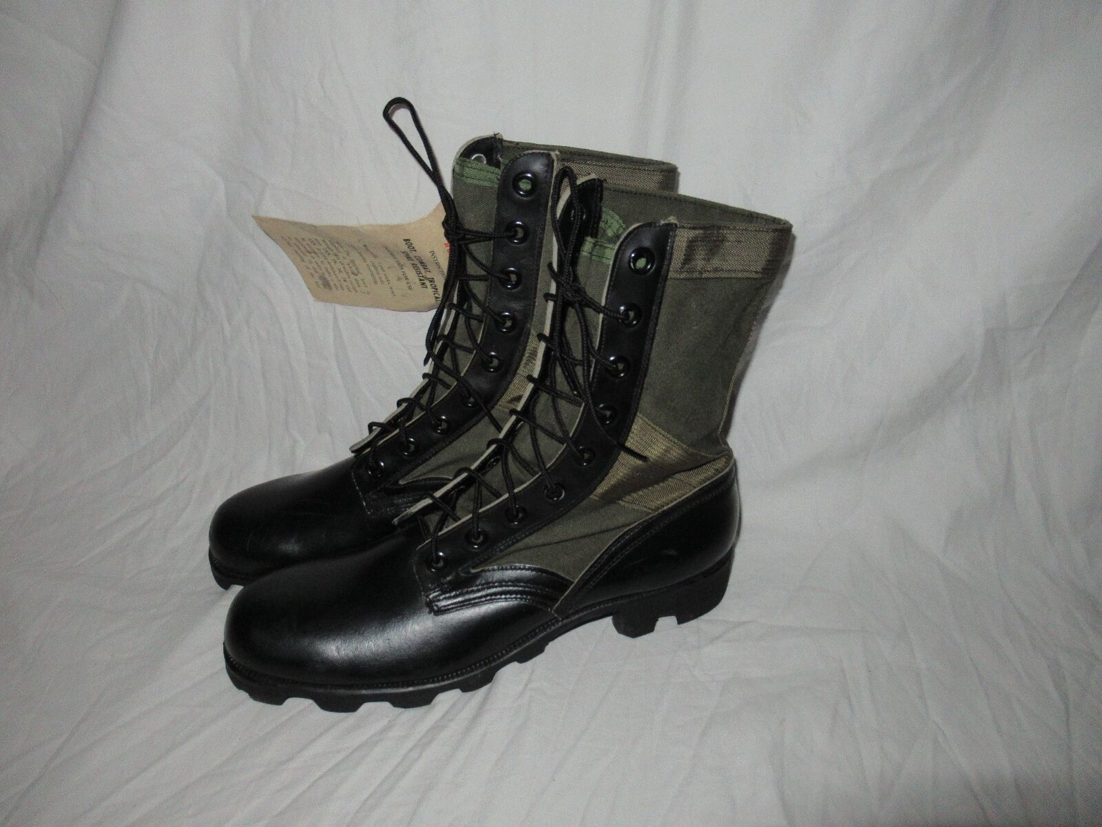 9 X N VIETNAM 69 RO SEARCH CANVAS LEATHER ARMY JUNGLE COMBAT BOOTS MILITARY NOS