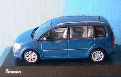 VW VOLKSWAGEN TOURAN 2007 blueE METALLIC MINICHAMPS 1 43 blue blue METAL