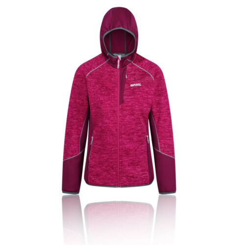 Regatta Da Donna WILLOWBROOK VI in Pile Top-Sport Rosa Caldo Con Cappuccio Cerniera Intera