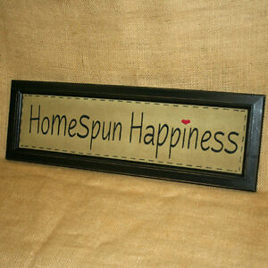 Homespun-Happiness-Embroidered-Stitchery-Wall-Hanging-Country-Home-Decor