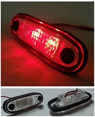 flexzon 4 X Mini side rubber 6 led marker lights trailer truck lorry camper 12V 24 Volt