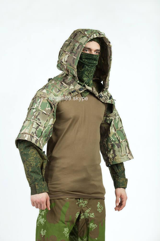Disguise Sniper Coat   Viper Hood Russian Spetsnaz Ripstop Multicam