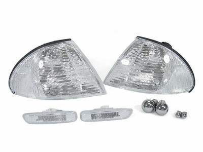 DEPO Smoke Corner Signal+Side Marker Light+2 Pair Chrome Bulb For 99-01 BMW E38