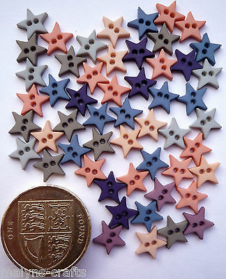 MICRO MINI STARS ROMANCE Craft Buttons 1ST CLASS POST Small Baby Doll Clothes
