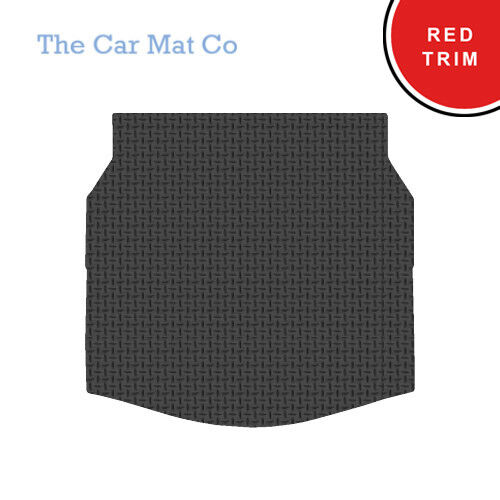 Jaguar X Type Estate 2004-10 Fully Tailored Black Rubber Boot Mat With Red Trim