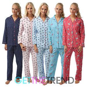 6e09e32dae Image is loading Womens-Nightwear-Pyjamas-Ladies-Flannel-Fleece-100-Cotton-