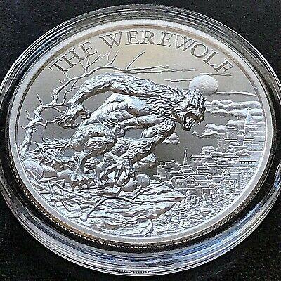 The Werewolf 2 oz .999 Silver BU Round Eastern European Folklore