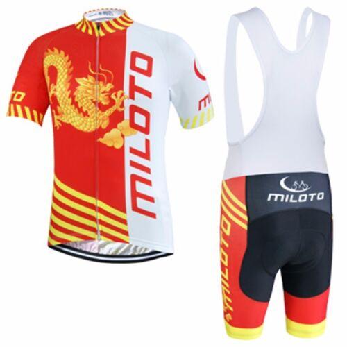 Dragon MILOTO Hommes MTB Cycling Jersey et Vêtements Vélo Kit Bib Shorts Set