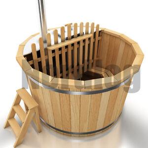 nordlog hot tub badefass mit ofen badezuber badetonne badebottich 1 5m sauna ebay. Black Bedroom Furniture Sets. Home Design Ideas