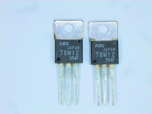 "UPC78M12  /""Original/"" NEC 12V Positive Regulator  TO-220 IC  2  pcs"