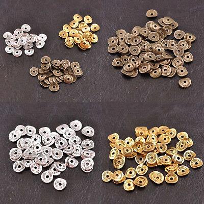 100PCS Tibetan Silver//Gold//Bronze Wavy Charm DIY Spacer Beads for Bracelet Hot