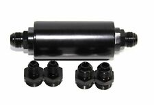An6 An8 An10 High Flow 40 Micron Cleanable Ss Racing Inline Fuel Filter Black