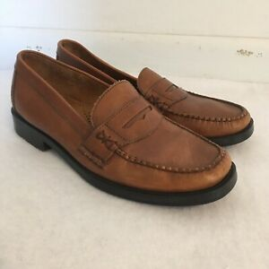 BASS WEEJUNS Womens Sz 7.5 PENNY LOAFERS, MEDIUM BROWN ...