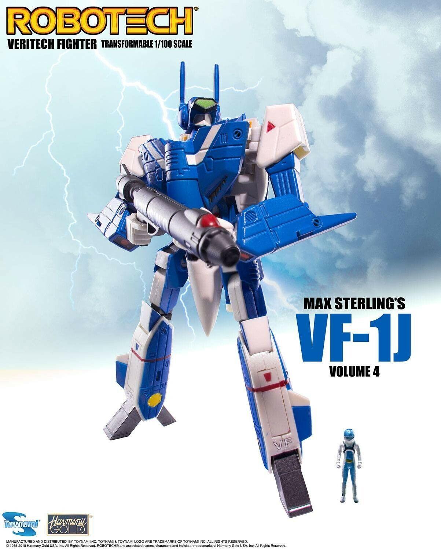 Robotech Max Sterling VF-1J Transformerbar Veritech Fight verkan Figur leksaknami