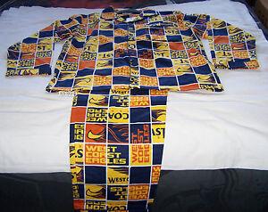 taglia flanella Eagles S West Afl stampato Mens nuovo Imposta pigiama pezzi 2 Coast pAUqB