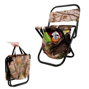 Portable Folding Chair Cooler Bag Storage Camping Compact