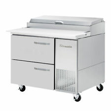 Blue Air Bapp44 D2 Hc 44 2 Drawer Refrigerated Pizza Prep Table 6 Pan