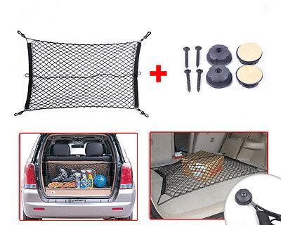 Universal Nylon Car Rear Cargo Trunk Storage Organizer Net for SUV +hardware set