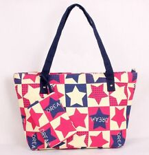 Red Stars Handbags Canvas Shoulder Bags Tote Bag bolsos mujer de marca